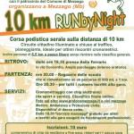 volantino corsa 10km run by night mezzago 2015