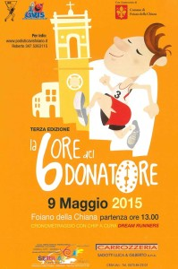 volantino corsa podistica 6 ore del donatore 2015