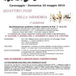 volantino corsa podistica quattro passi nella memoria 2015