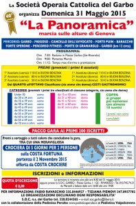 volantino marcia la panoramica 2015 Genova