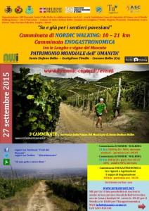 volantino nordic walking e enogastronomica 2015 a Santo Stefano Belbo