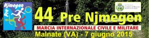 volantino marcia podistica pre njmegen 2015 a Malnate VA