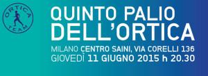 volantino ufficiale con regolamento Palio dell'ortica 2015 a Milano