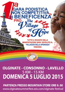 volantino corsa non competitiva the village of hope olginate pag1