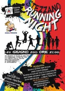 volantino corsa notturna stezzano running night 2015