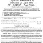 volantino corsa cinque campanili 2015