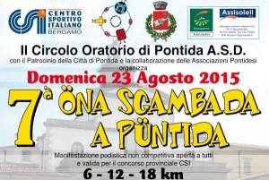 Volantino corsa Öna sgambada a Püntida - 7a edizione 2015