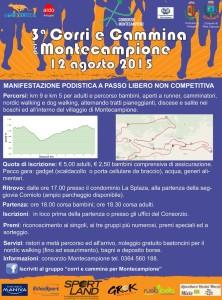 volantino corri e cammina per Montecampione 2015