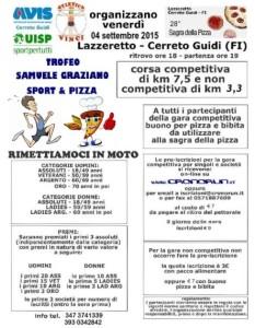 VOLANTINO  Corsa Podistica Sport e pizza a Lazzeretto ci Cerreto Guidi