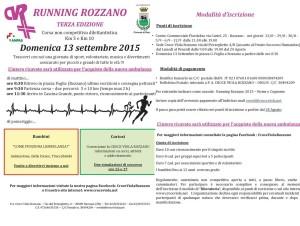 Volantino corsa Running Rozzano 2015