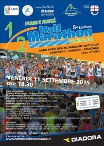 volantino halfmarathon arenzano 2015
