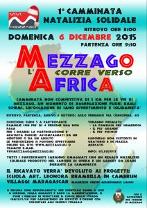 volantino Mezzago corre verso l'Africa 2015