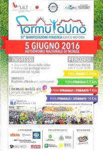 volantino corsa podistica formula uno 2016
