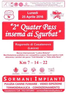 volantino corsa quater pass insema ai sgurbat 2016