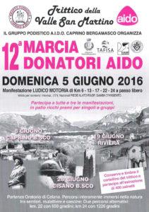 volantino marcia donatori aido 2016