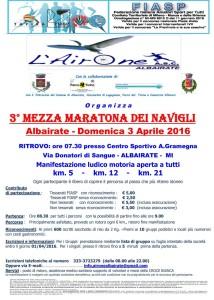volantino mezza maratona albairate 2016