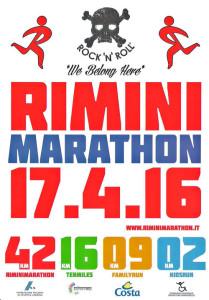 volantino rimini marathon 2016
