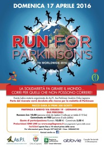 volantino run for parkinson 2016
