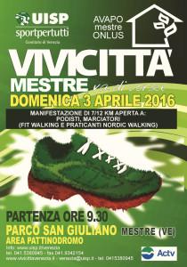 volantino corsa vivicitta venezia 2016