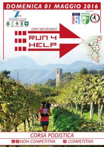 Volantino corsa Run 4 help 2016