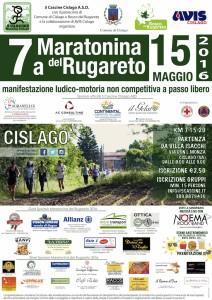 Volantino Maratona di Rugaerto 2016