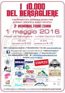 locandina I 10000 del Bersagliere - 2016