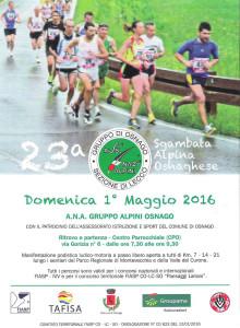 volantino corsa sgambada alpina osnaghese 2016
