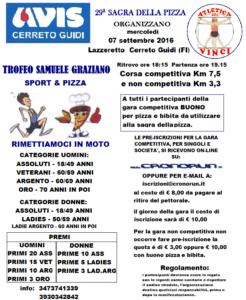 Volantino corsa podistica 2016