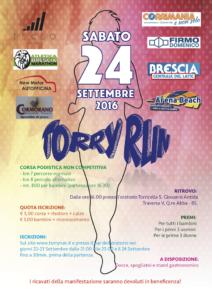 volantino Torry Run 2016