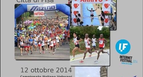 volantino mezza maratona città di pisa 2014