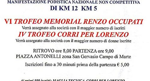volantino corri lorenzo 2014