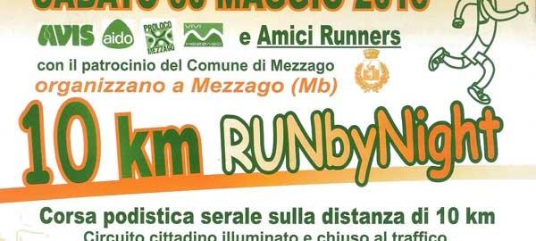 banner corsa 10km run by night mezzago 2015