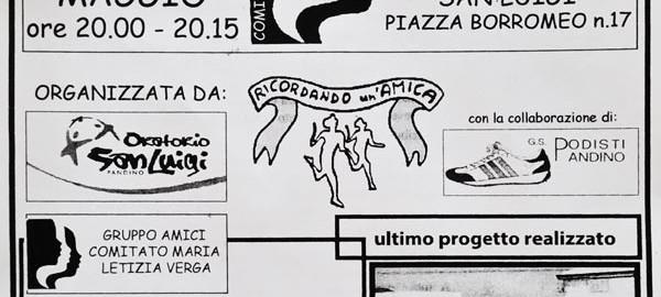 volantino marcia 29ma correre per la vita 2015
