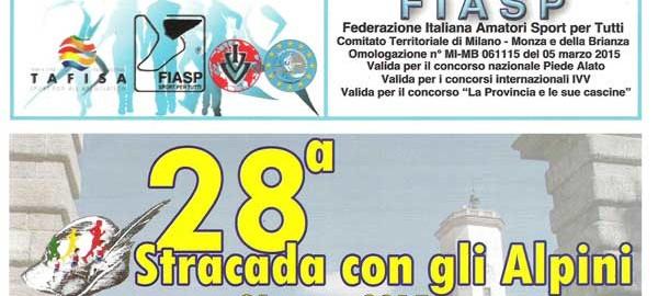 banner 28ma stracada con gli alpini 2015
