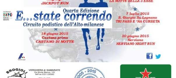 volantino estate correndo 2015 manifestazione podistica alto milanese