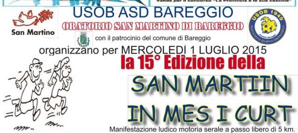 Volantino san martiin in mes i curt 2015 bareggio MI