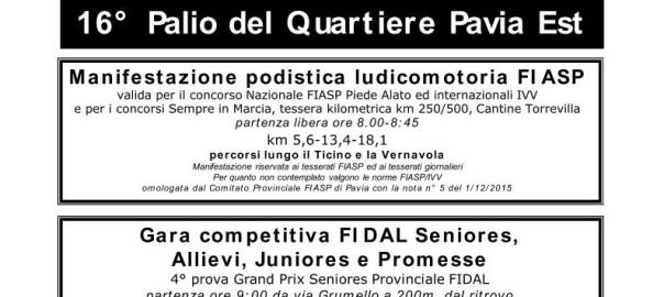 Locandina Palio Pavia Est 2016