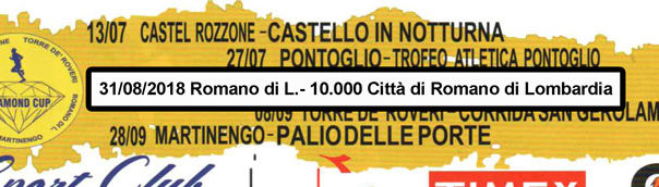 Calendario Corse Podistiche Lombardia.10 000 Citta Di Romano Di Lombardia Podopodo It