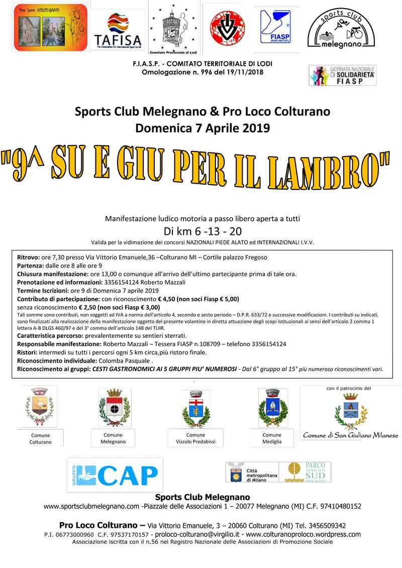 Calendario Corse Podistiche Lombardia.Su E Giu Per Il Lambro 9 Edizione Podopodo It